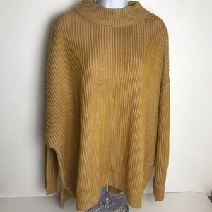 Topshop Yellow Knit Crew Neck Sweater